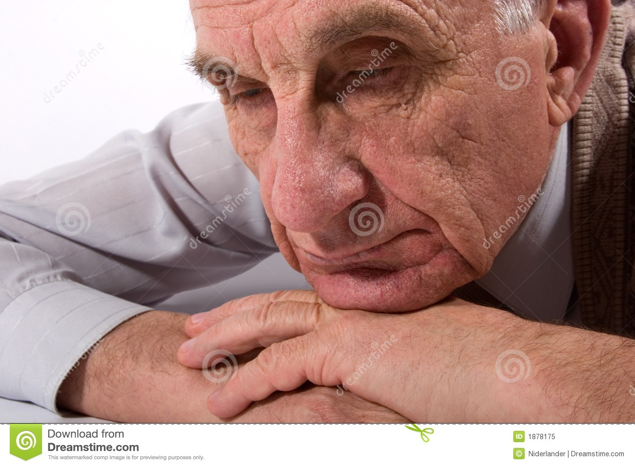Thoughtful old man