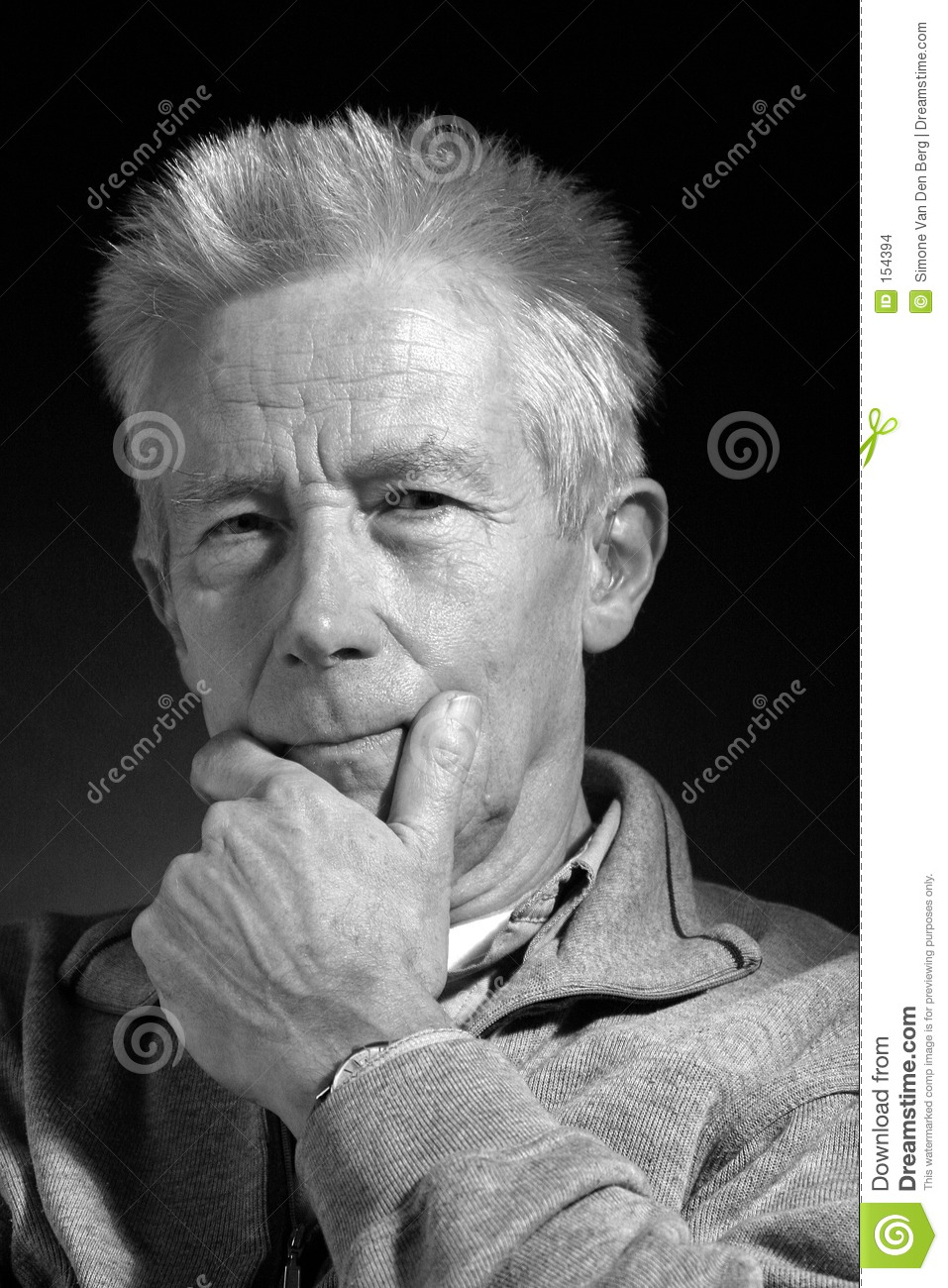 Thoughtful older man