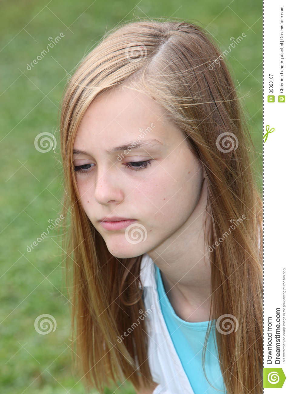 Thoughtful Sad Teenage Girl Royalty Free Stock Photography -3579