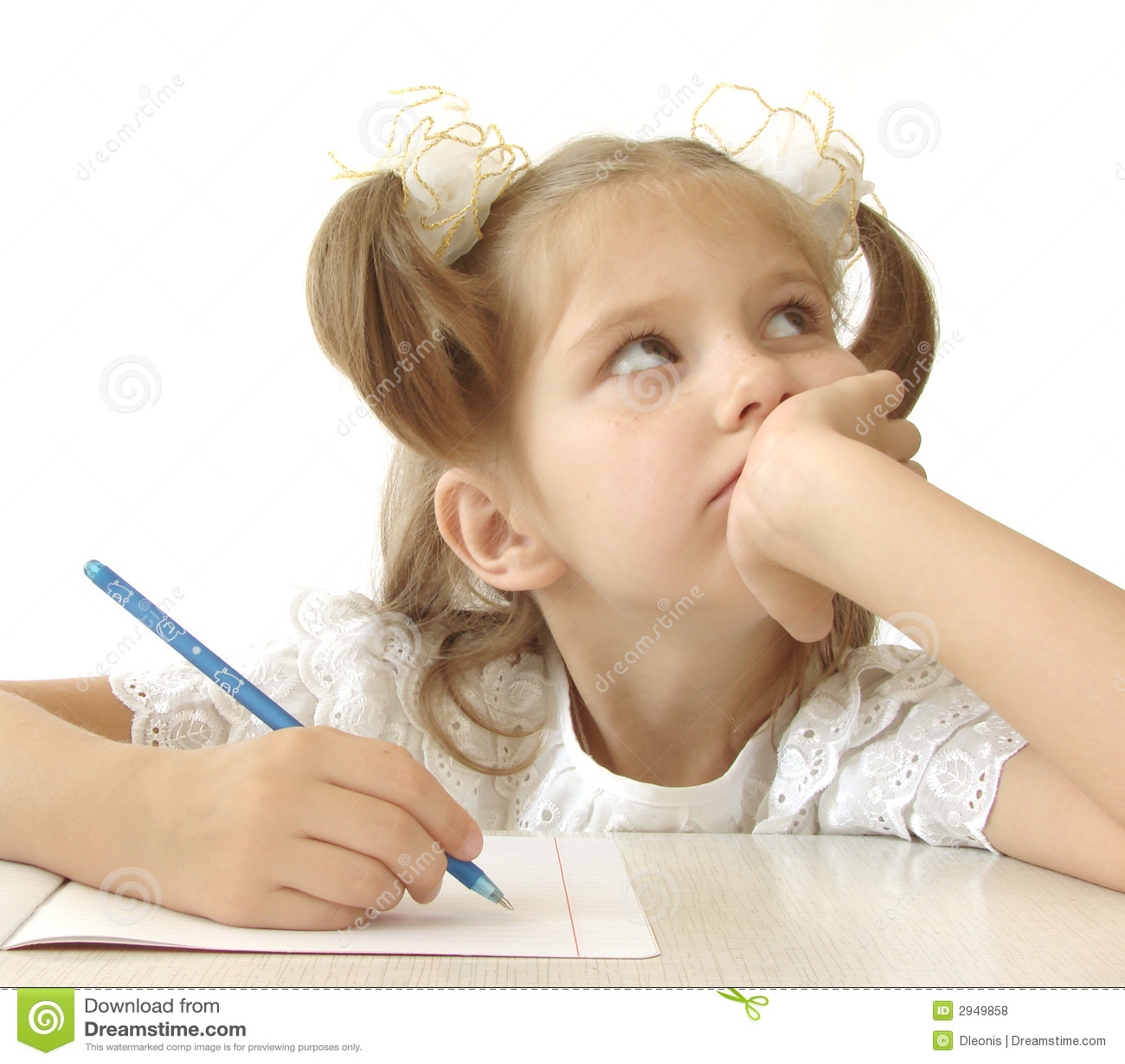 thoughtful schoolgirl royalty free stock photos   image 2949858