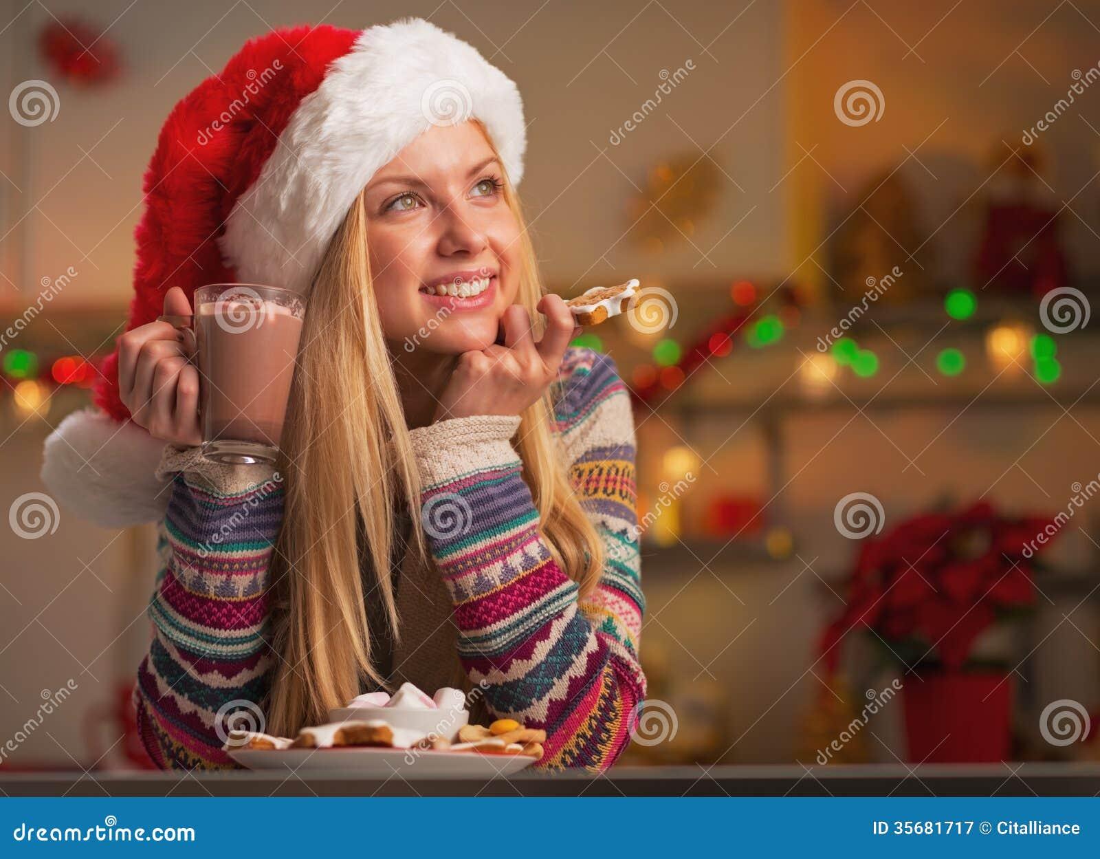 Hot christmas girl santa can