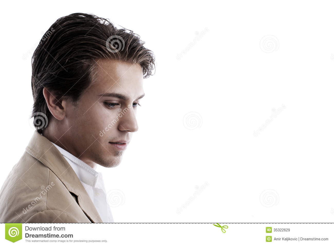 Thoughtful Wistful Young Man Royalty Free Stock Images ...