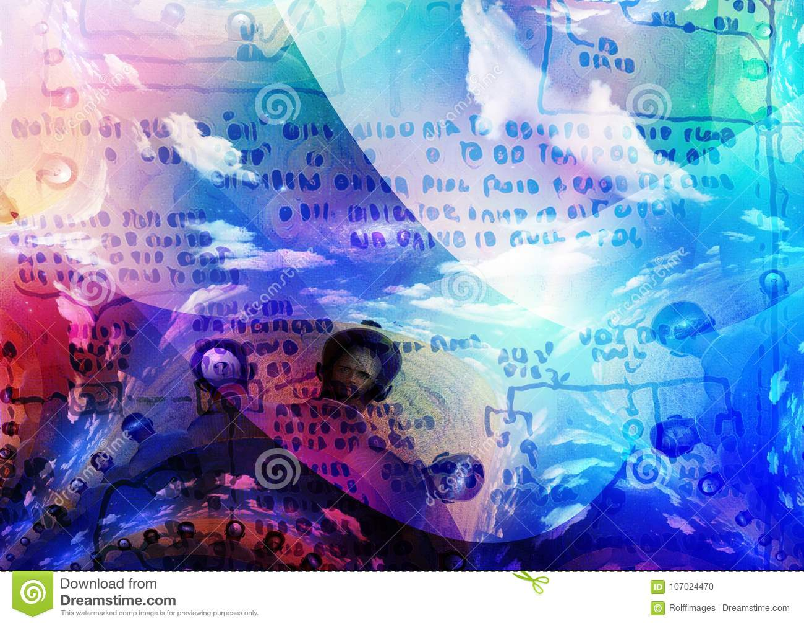 Thoughts stock illustration  Illustration of human, line - 107024470