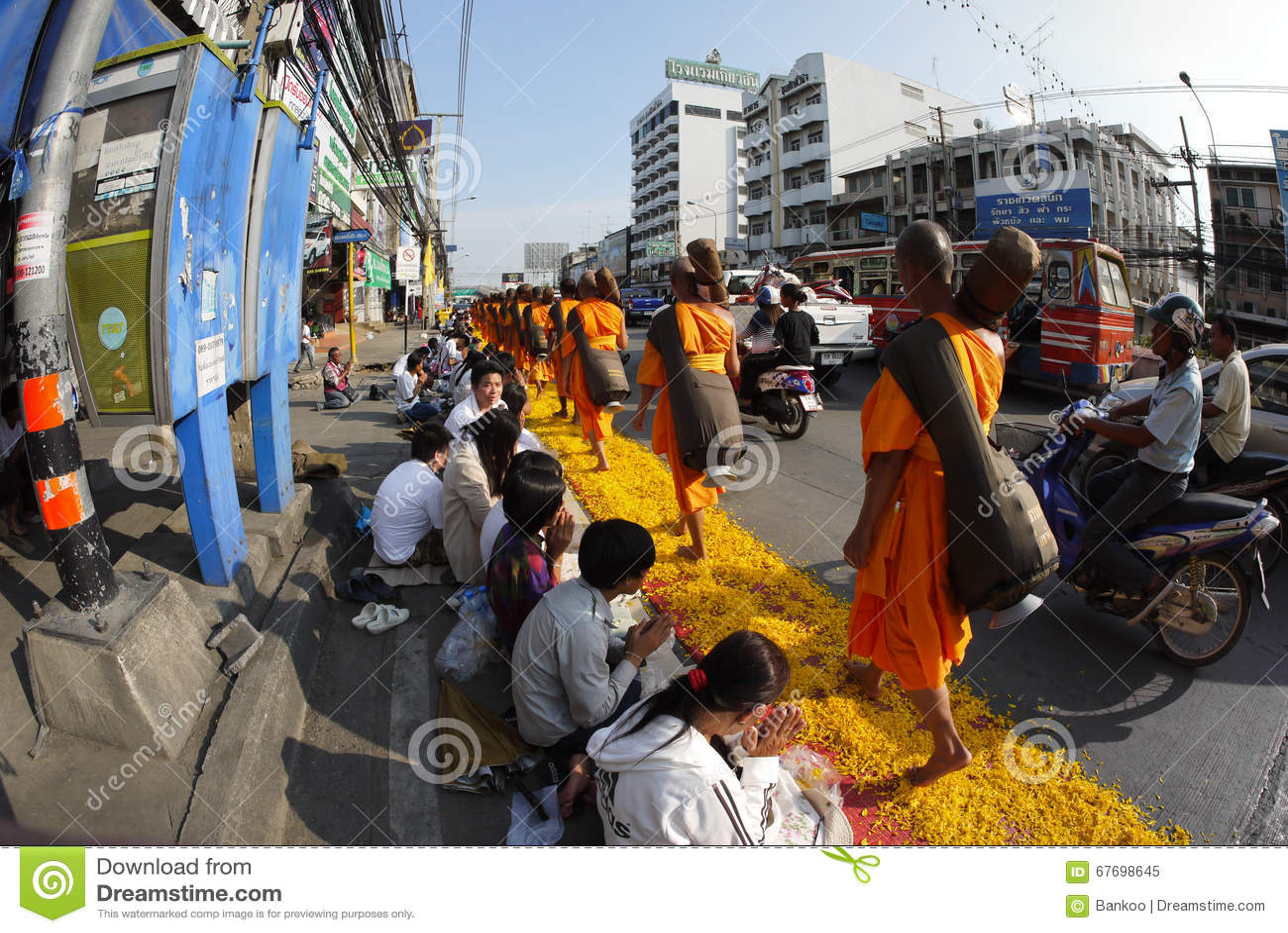 Thousand Monks From Wat Phra Dhammakaya Editorial Image Image Of