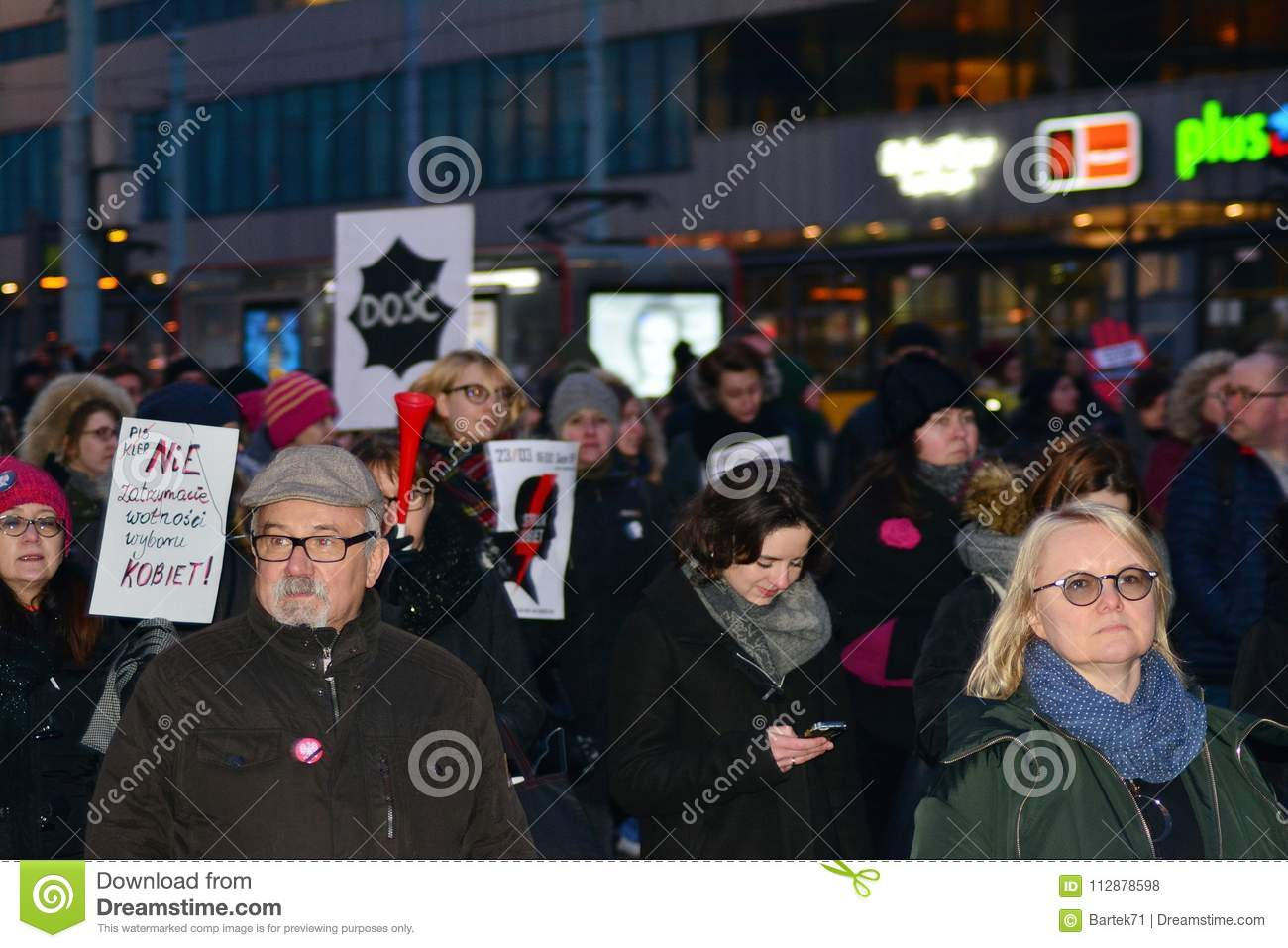 Thousands of people protests in Warsaw