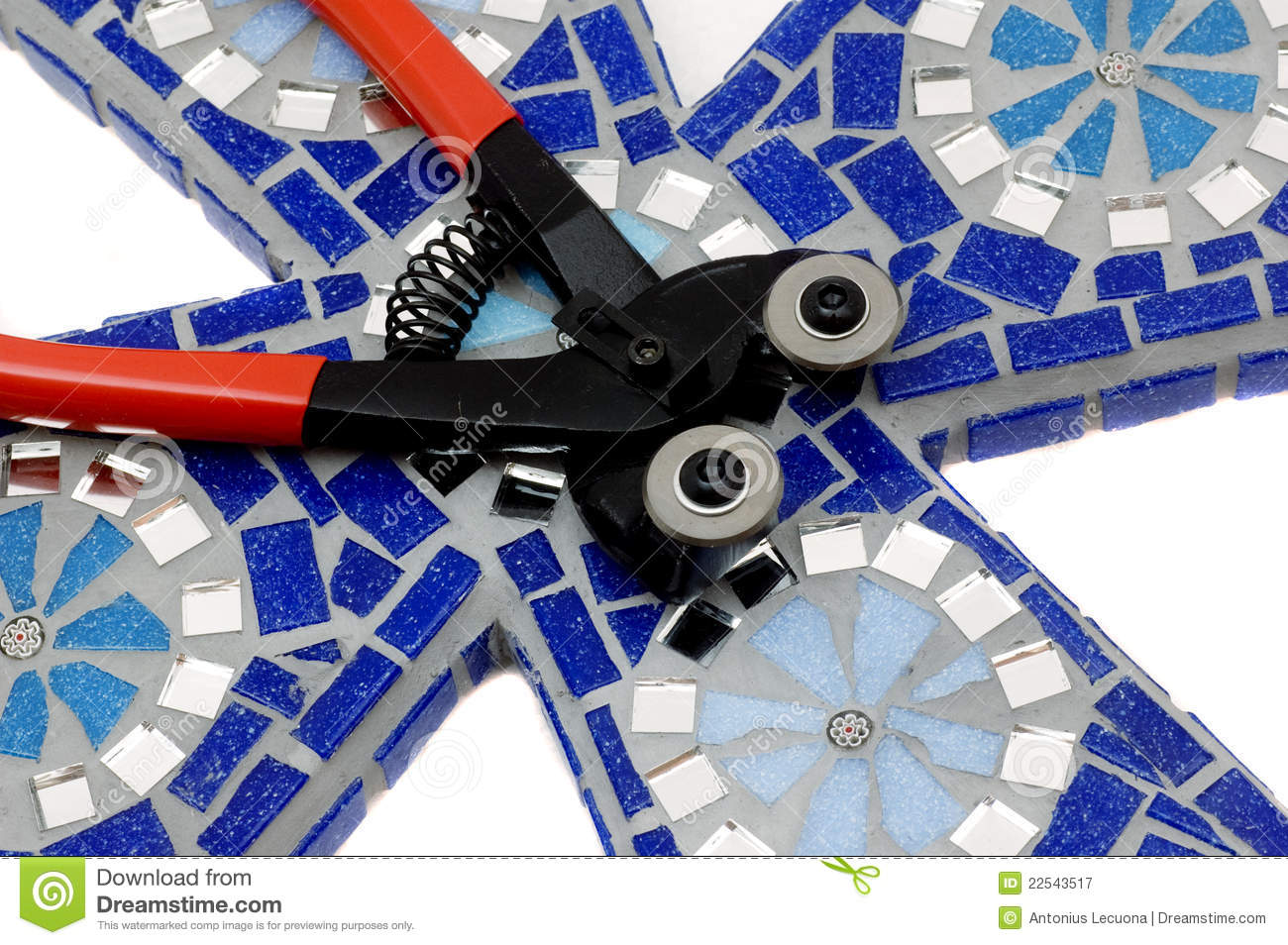 Thre Mosaic Craft Tile Nipper For Mosaics Stock Image