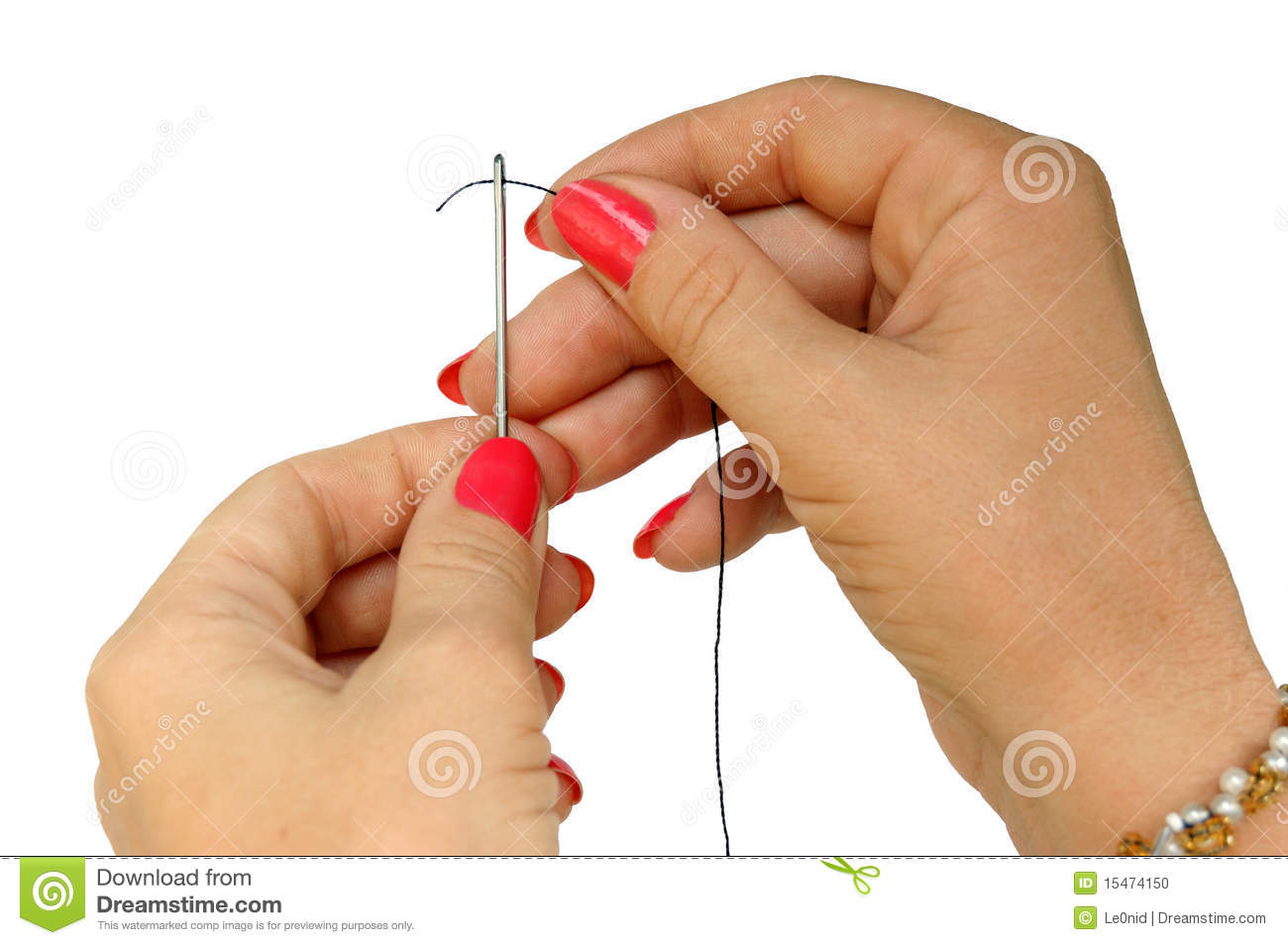 how to put thread in a needle
