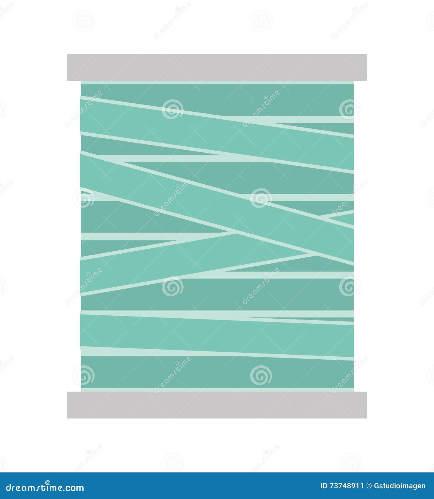 Thread Roll Isolated Icon Design Stock Illustration
