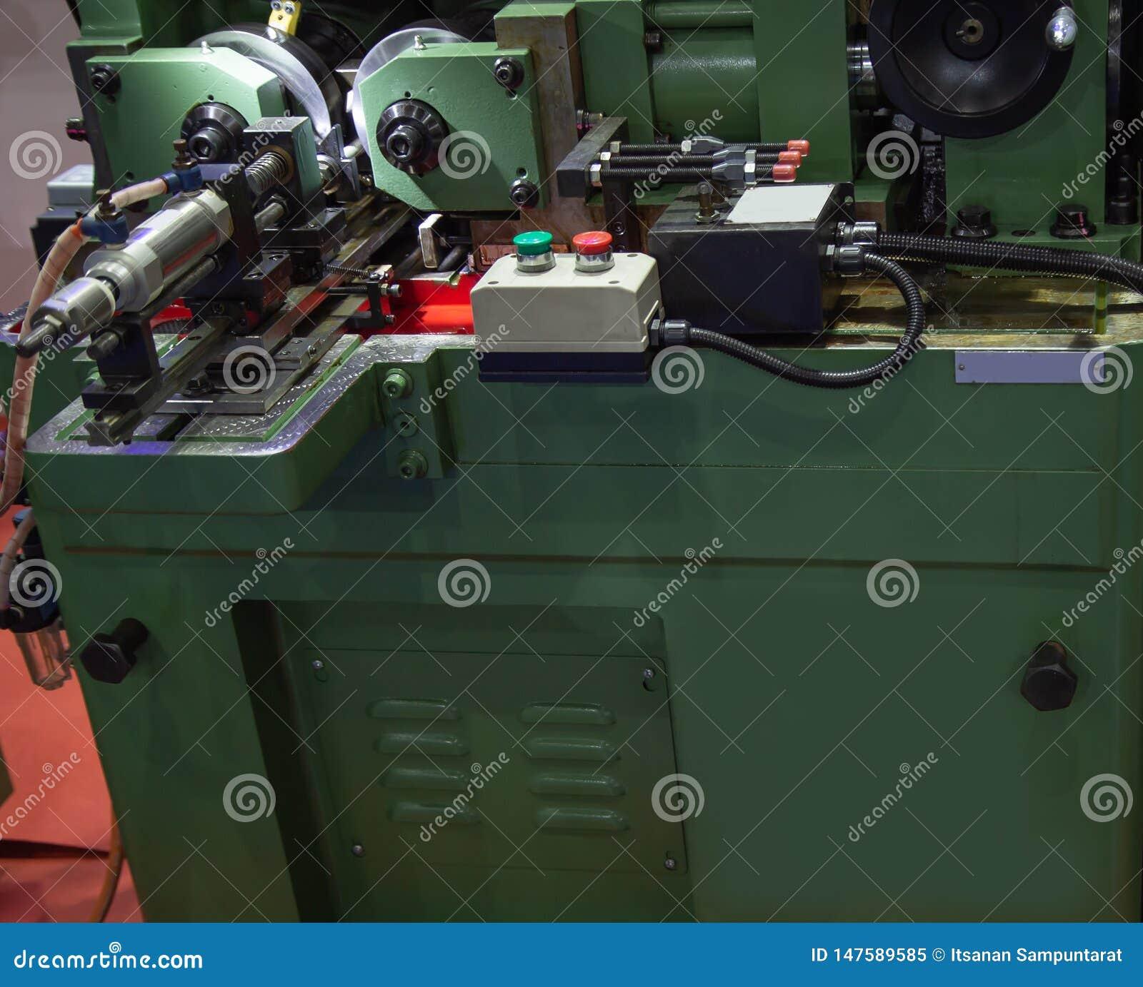 Thread rolling machine stock image  Image of equipment
