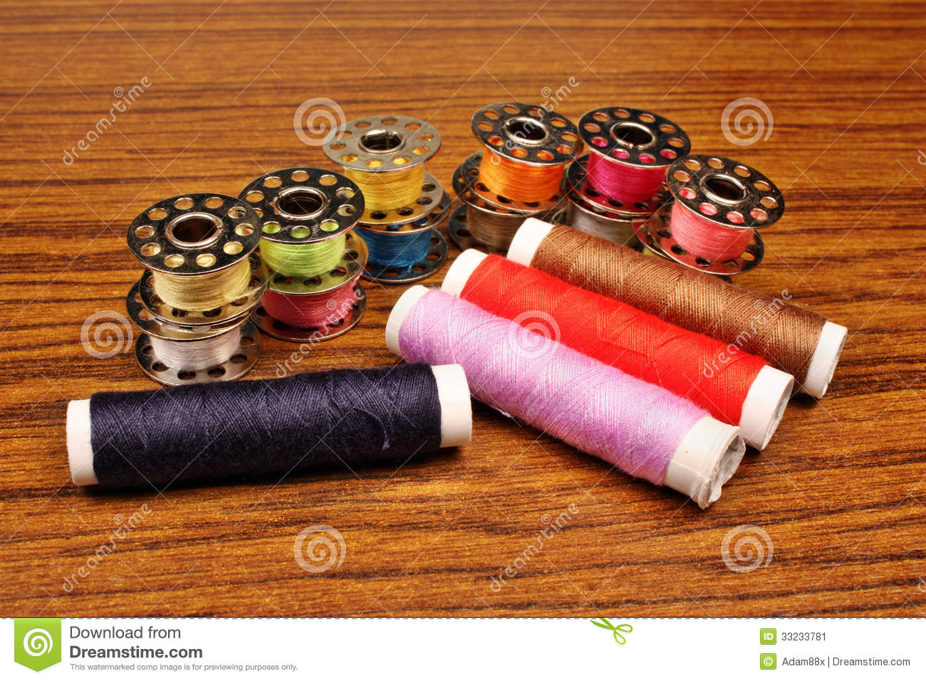 Thread a sewing machine stock image image 33233781 for Arts and crafts sewing machine