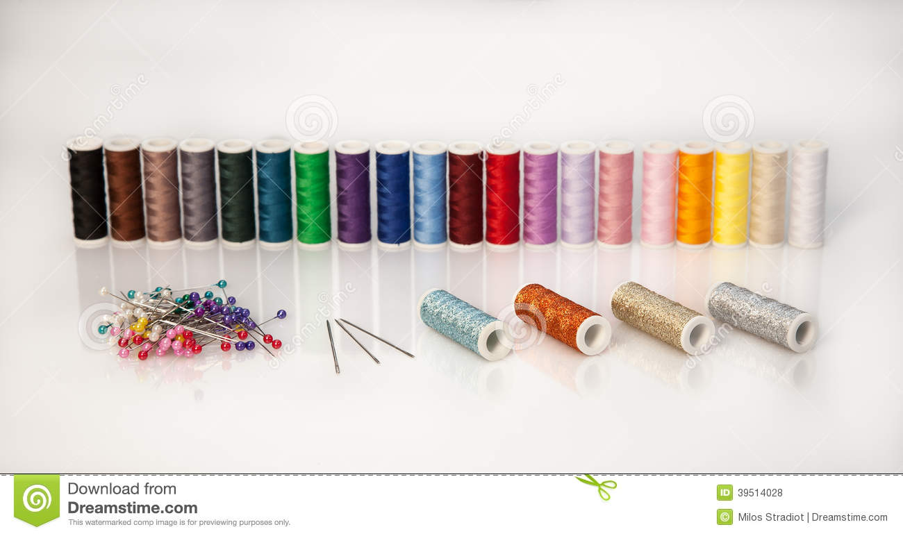 Threads with needles