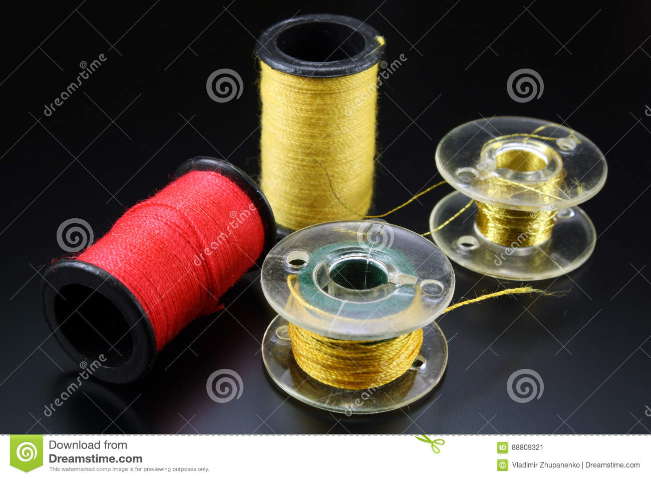 Threads for sewing on spools