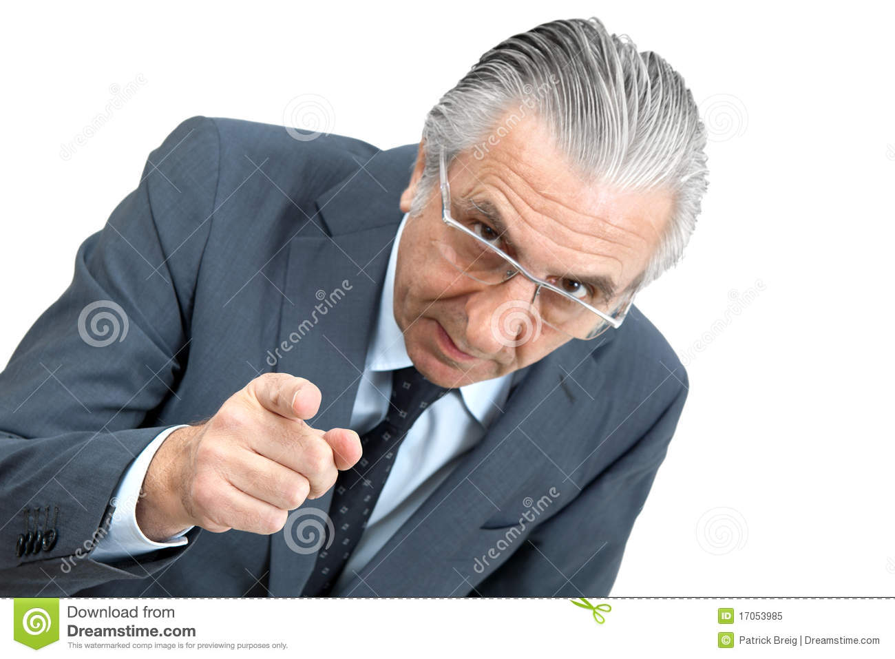 threatening boss  royalty free stock photo