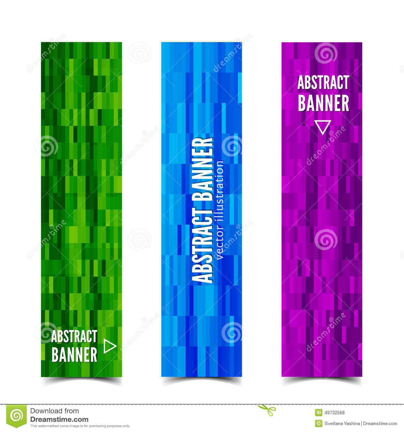 Three abstract vector banner stock vector image 49732568 - Text banner design ...
