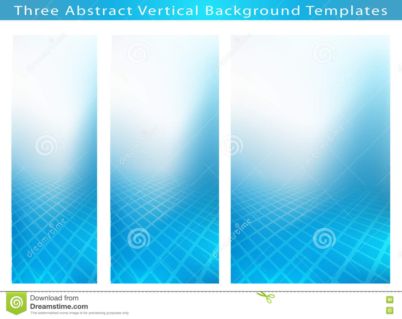 Set of 3 Abstract background template images of cool blue smooth twist of light and rectangles design. Plenty of copy space for Medical,Healthcare or Any ...