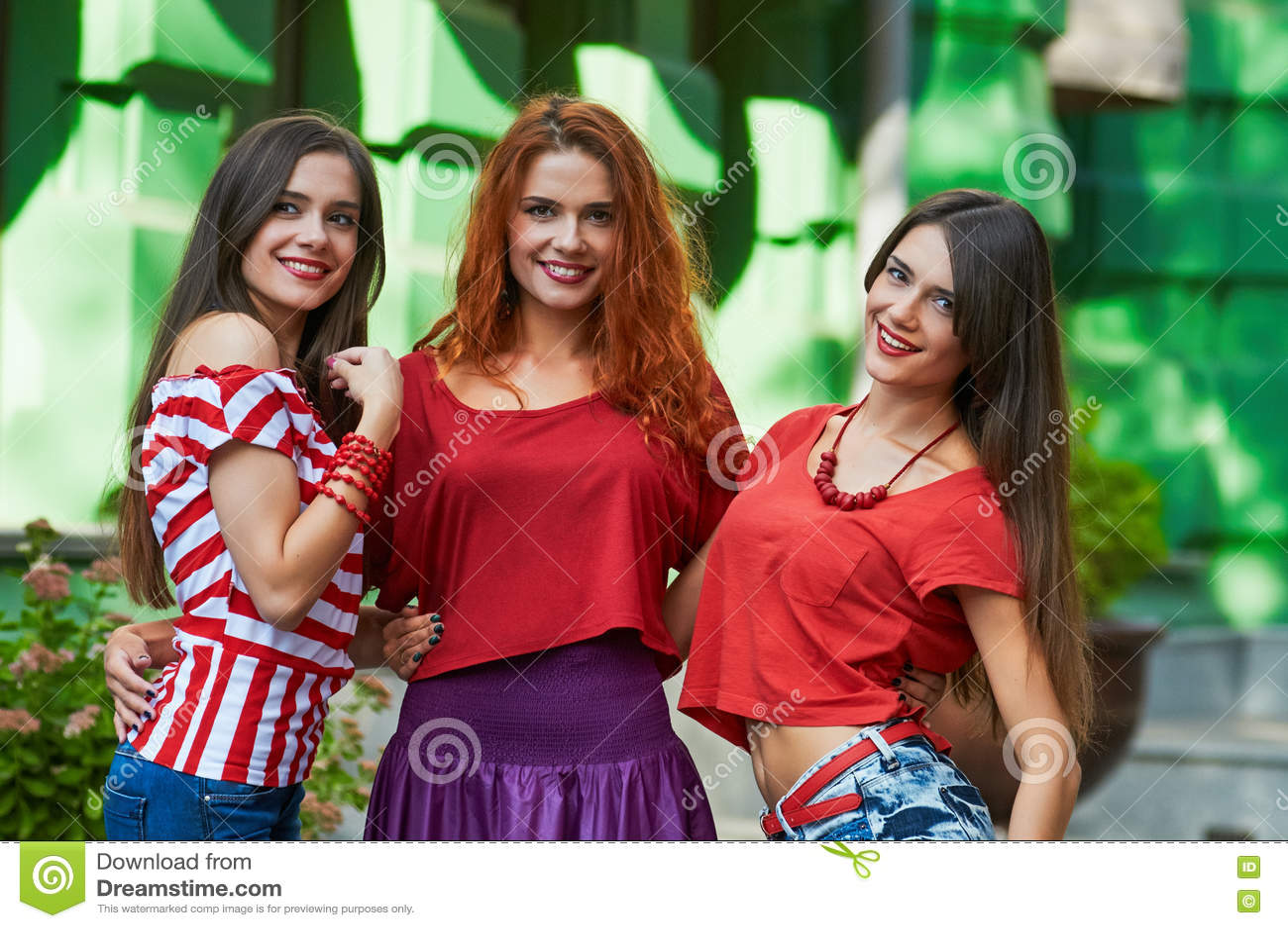 Three adult