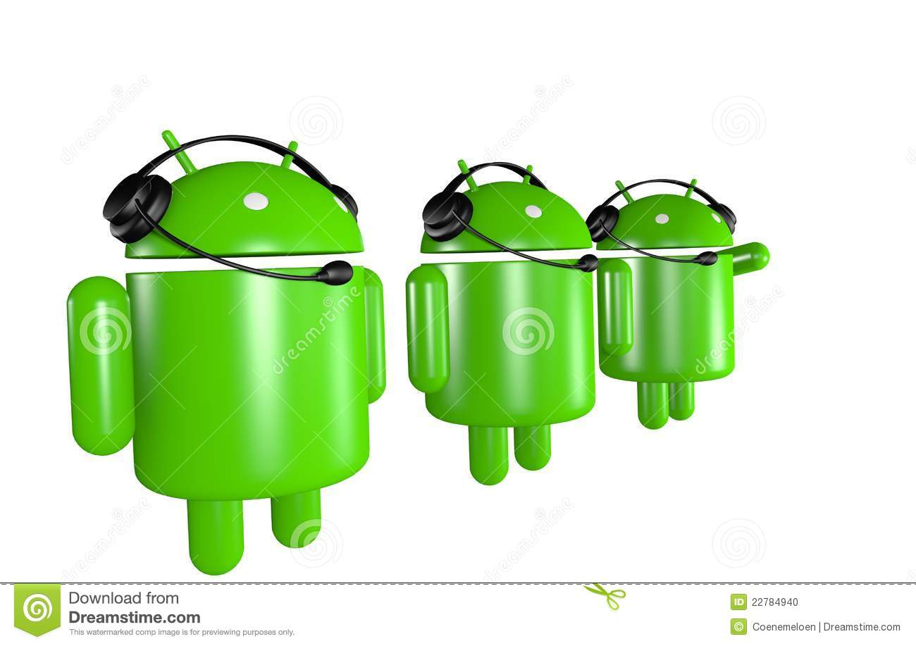 Three Android Robots Support