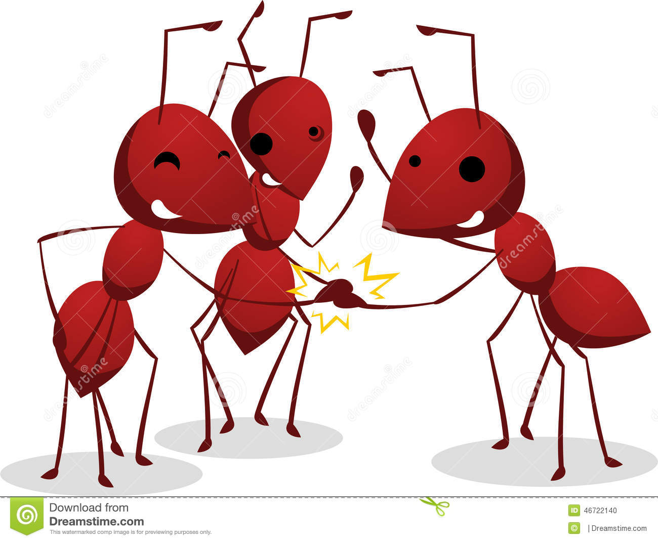 Ants Teamwork Stock Illustrations