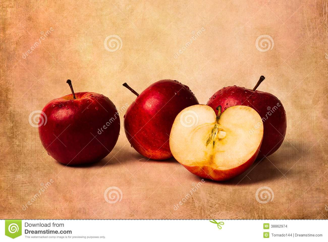 how to break an apple in half