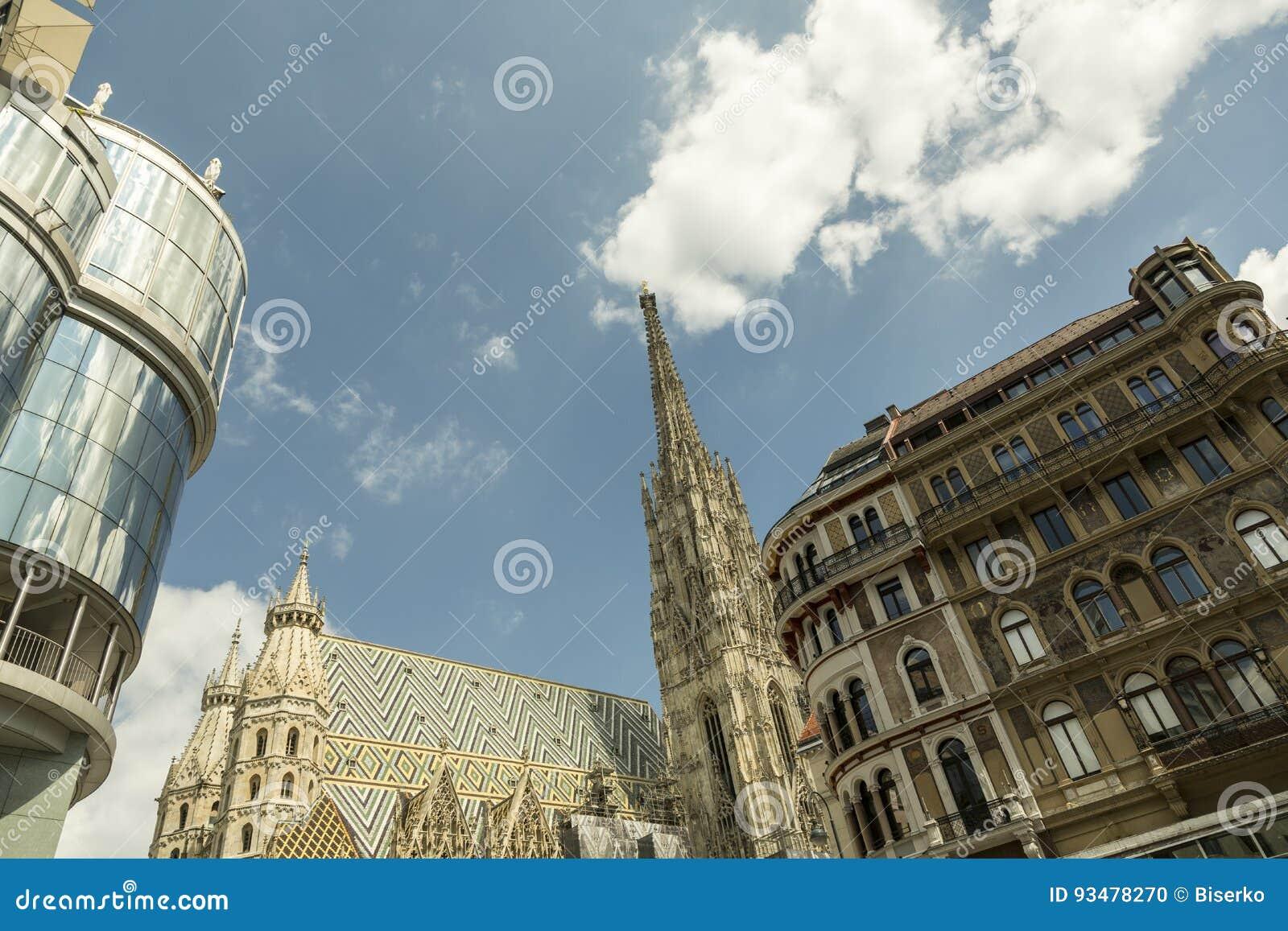Three Architecture Styles In Vienna Austria Editorial Image