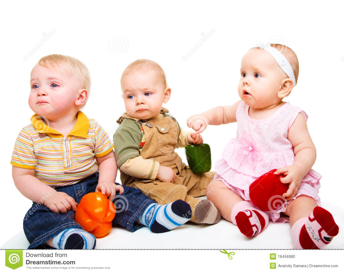 Three baby friends stock photo. Image of infant, curious ...