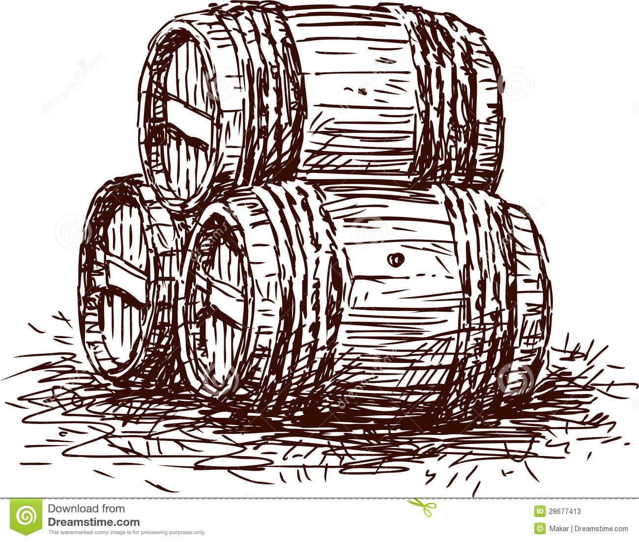 Three barrels stock photos image 28677413 - Barriles de vino ...