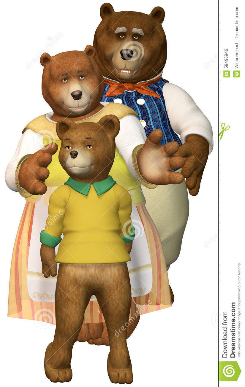 Three Bears Family Illustration Isolated Stock Illustration ...