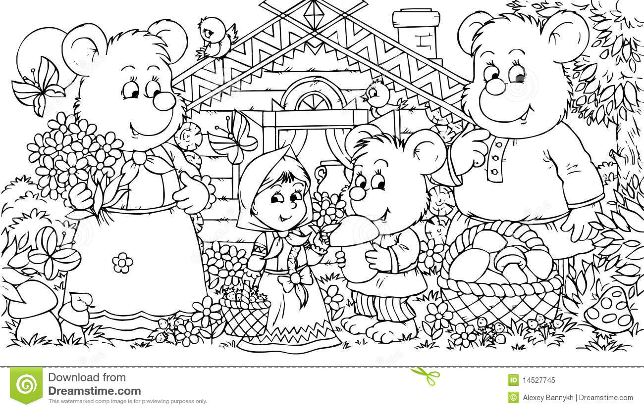 Coloring Pages Three Bears Coloring Pages three bears and little girl royalty free stock photo image 14527745 girl