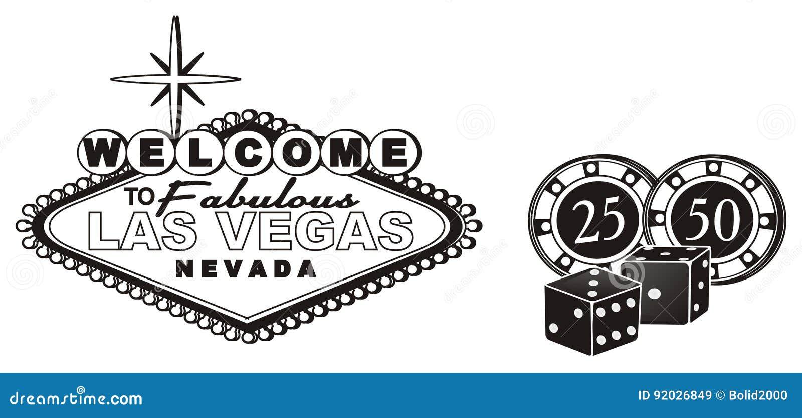 Three Black Signs Of Casino Stock Illustration Illustration Of