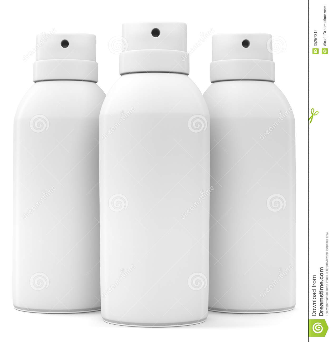 Three Blank Spray Cans Stock Photography Image 35257312