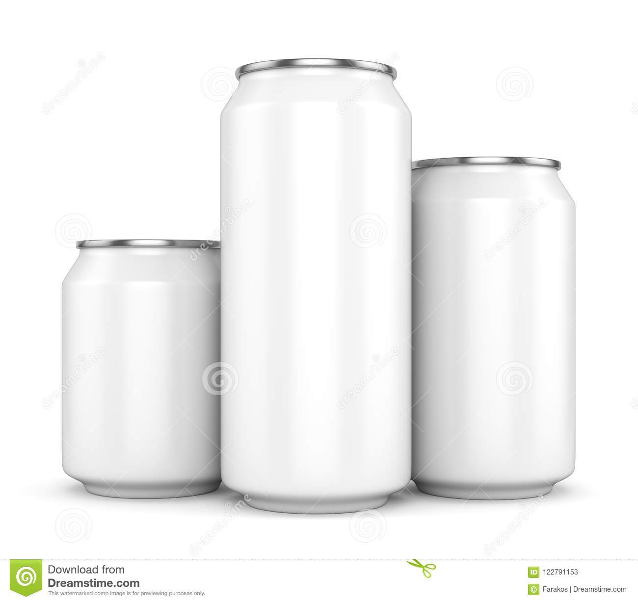 three blank white beer cans stock illustration illustration of