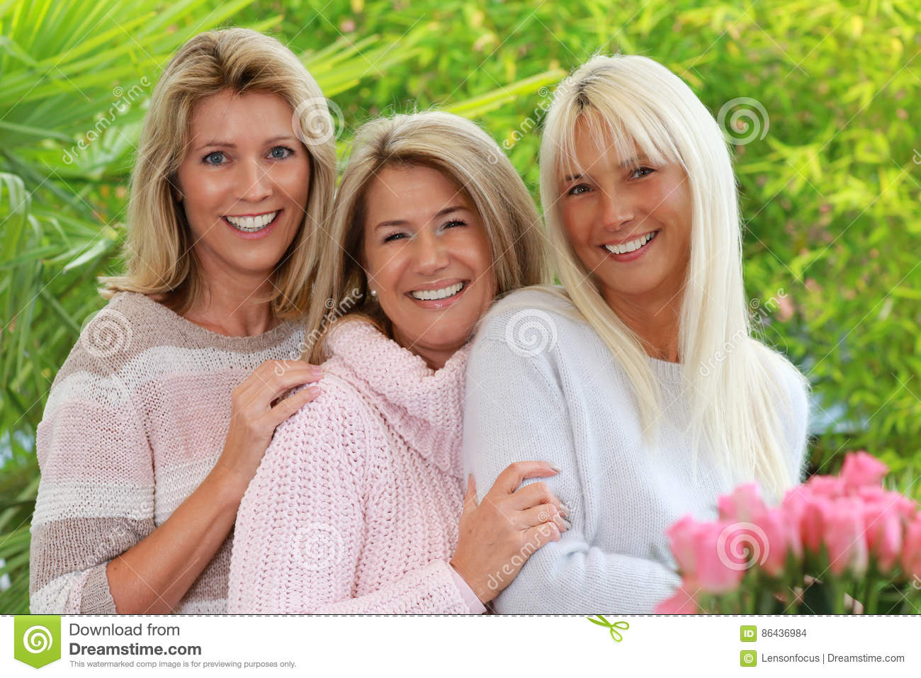 Three Blonde Mature Woman Stock Photo Image Of Best 86436984