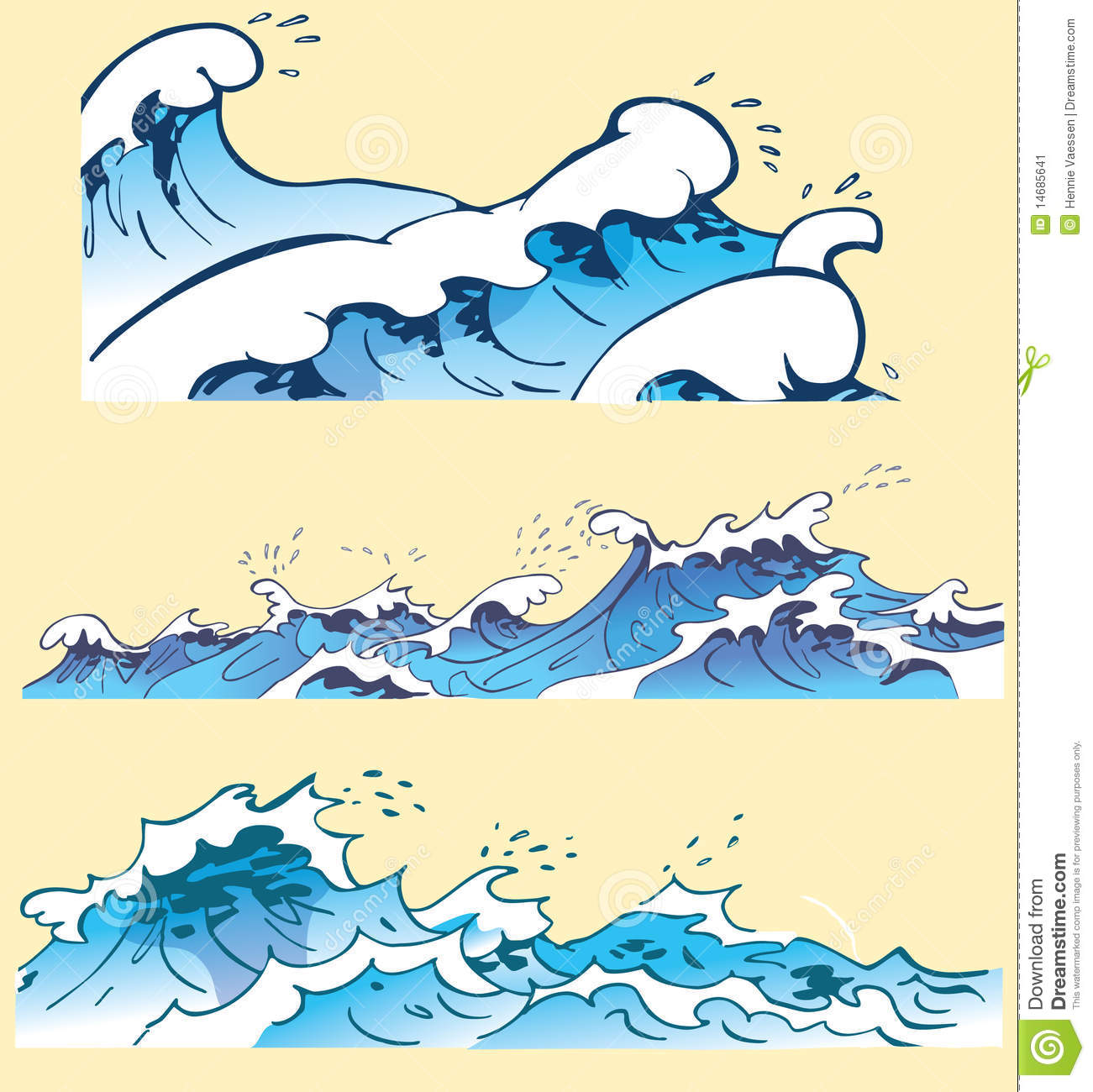 Ocean Wave Drawing Thr...