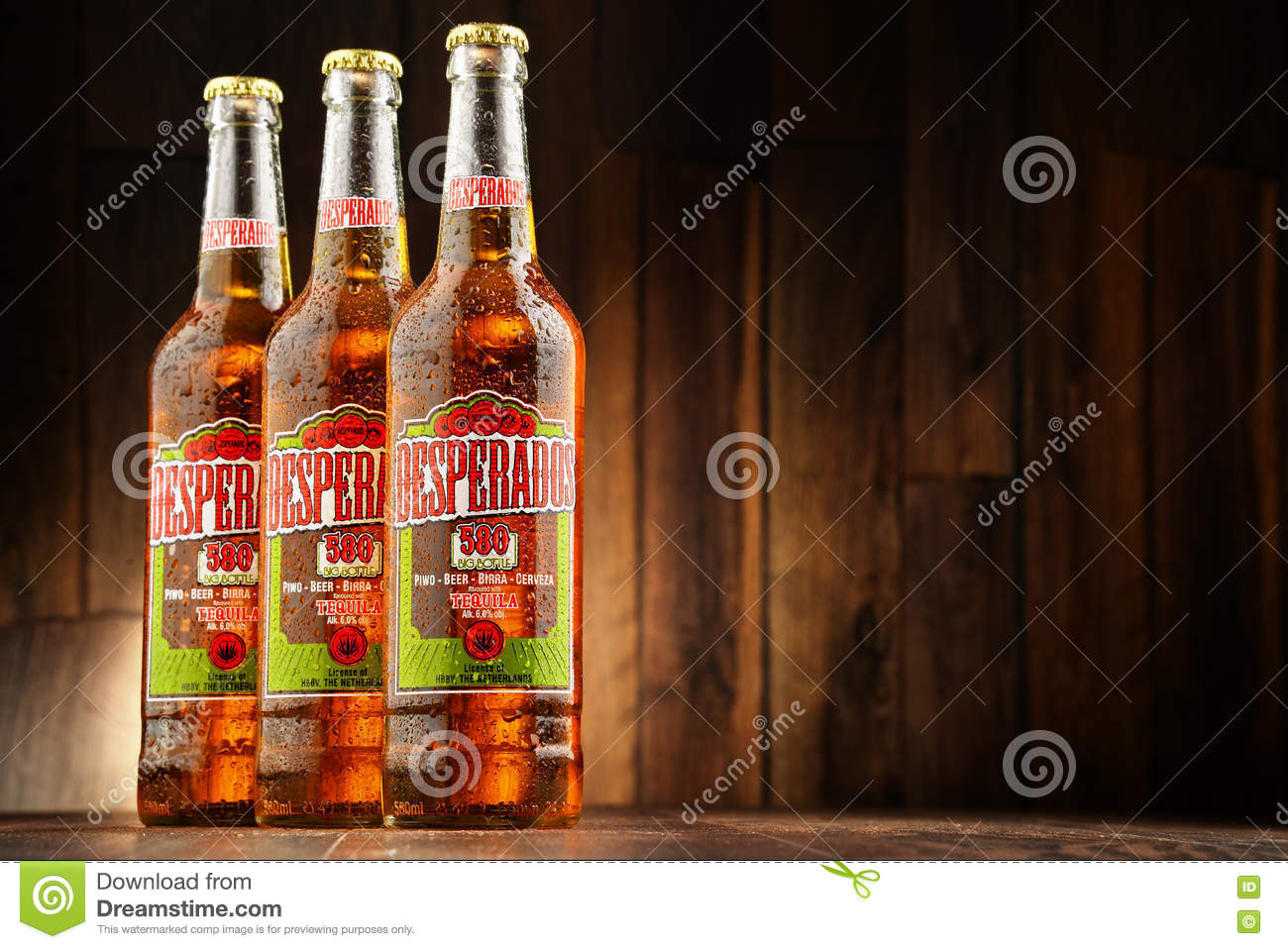 Three Bottles Of Desperados Beer Editorial Image Image Of Glass Drink 74933550