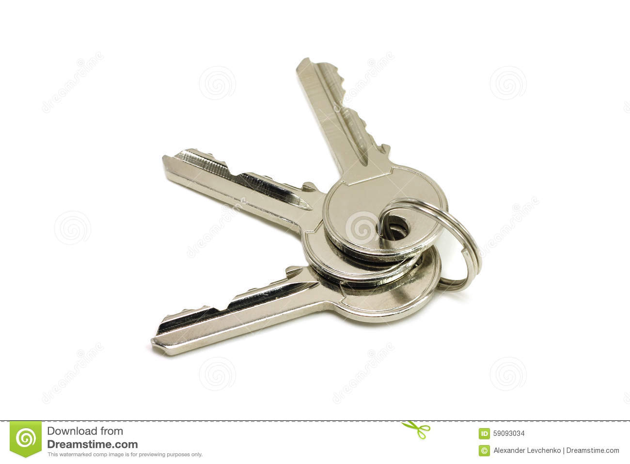 Three brilliant key door key Key