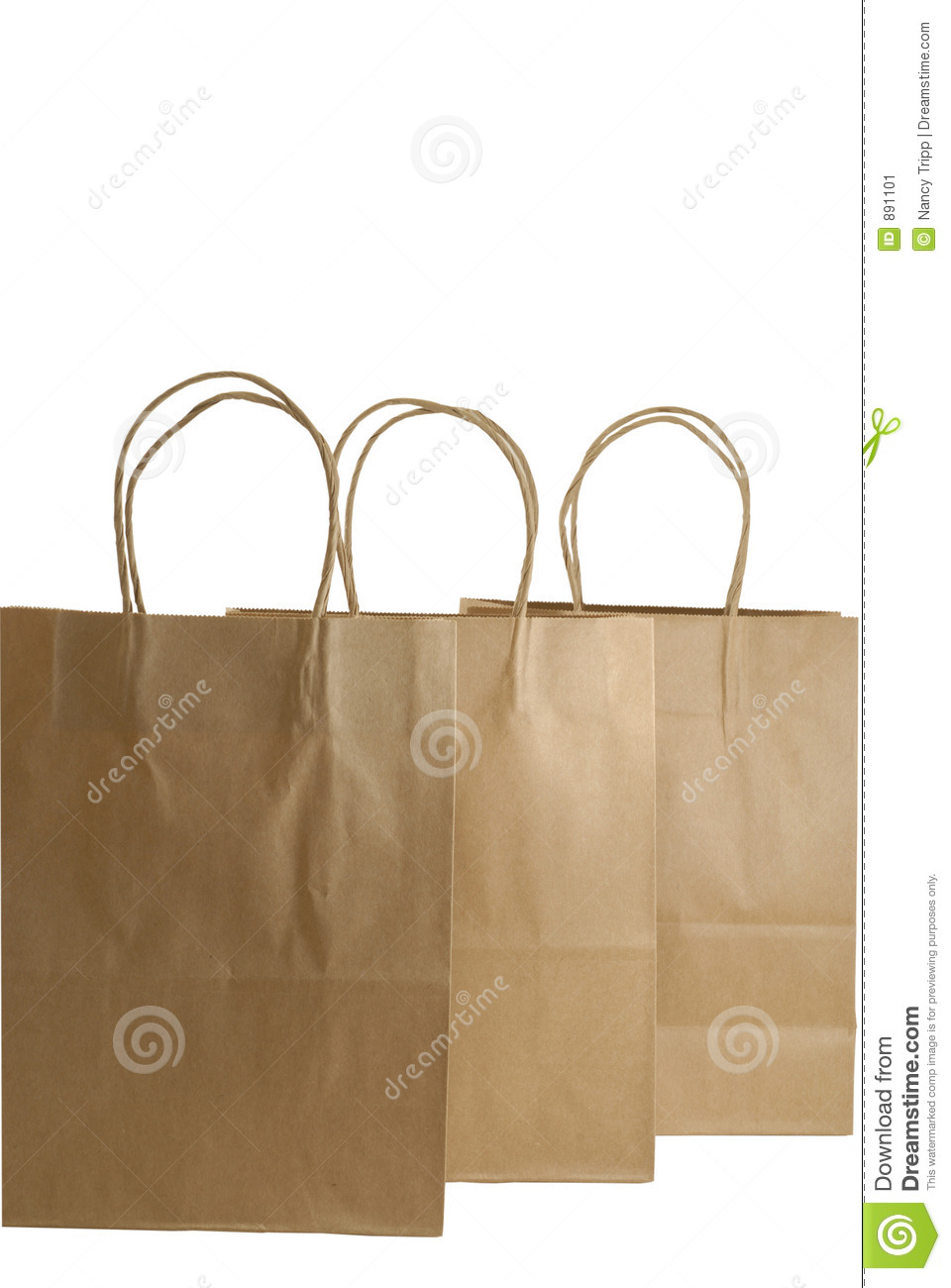 Three brown paper gift bags stock image image 891101 for Brown paper craft bags