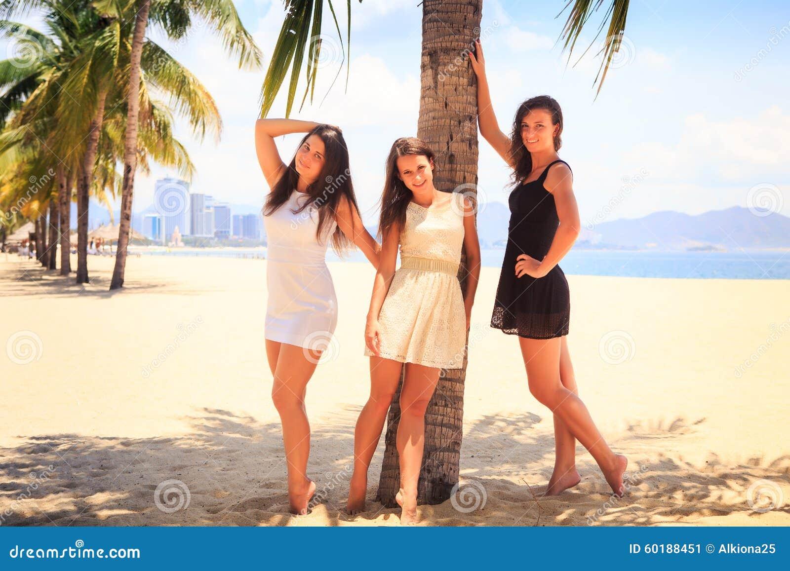 Beach at Slim teen