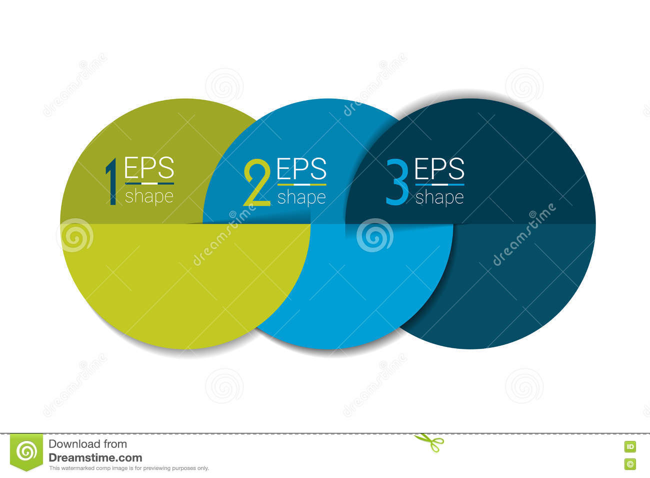 three business elements banner template 3 steps design chart