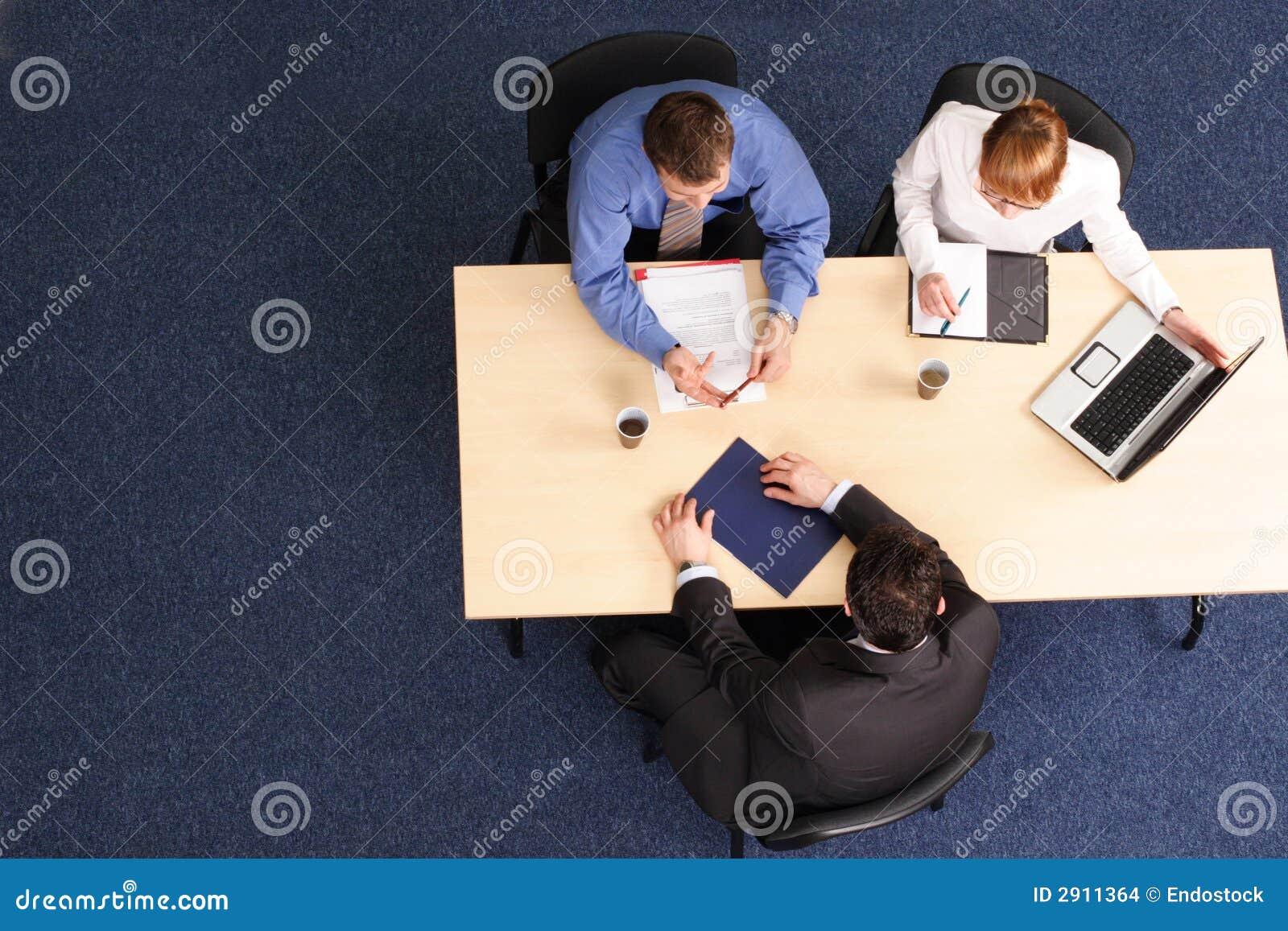 Three Business People Meeting Stock Photo Image 2911364