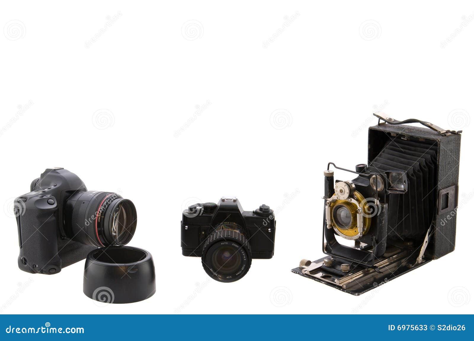Download Three cameras stock image. Image of film, cameras, camera - 6975633