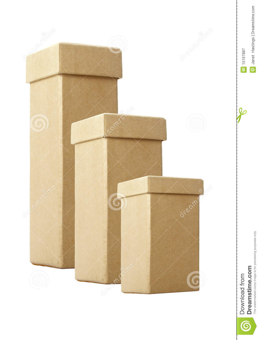 three cardboard boxes with lids royalty free stock photography image 15167887. Black Bedroom Furniture Sets. Home Design Ideas