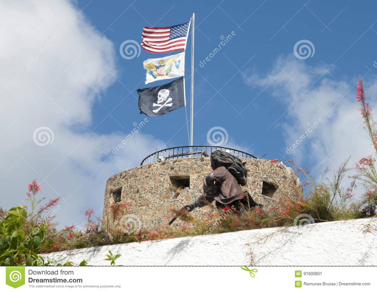Three Castle Flags Stock Image Image Of Virgin Islands 91600801