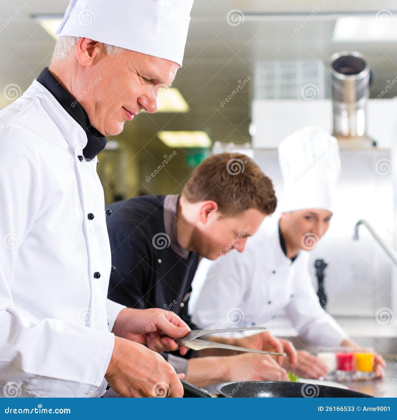 Restaurant Kitchen Manager Job Description: Restaurant Team, Man Cooking Chef, Manager, Waiter, Cleaning Woman. Cartoon Vector