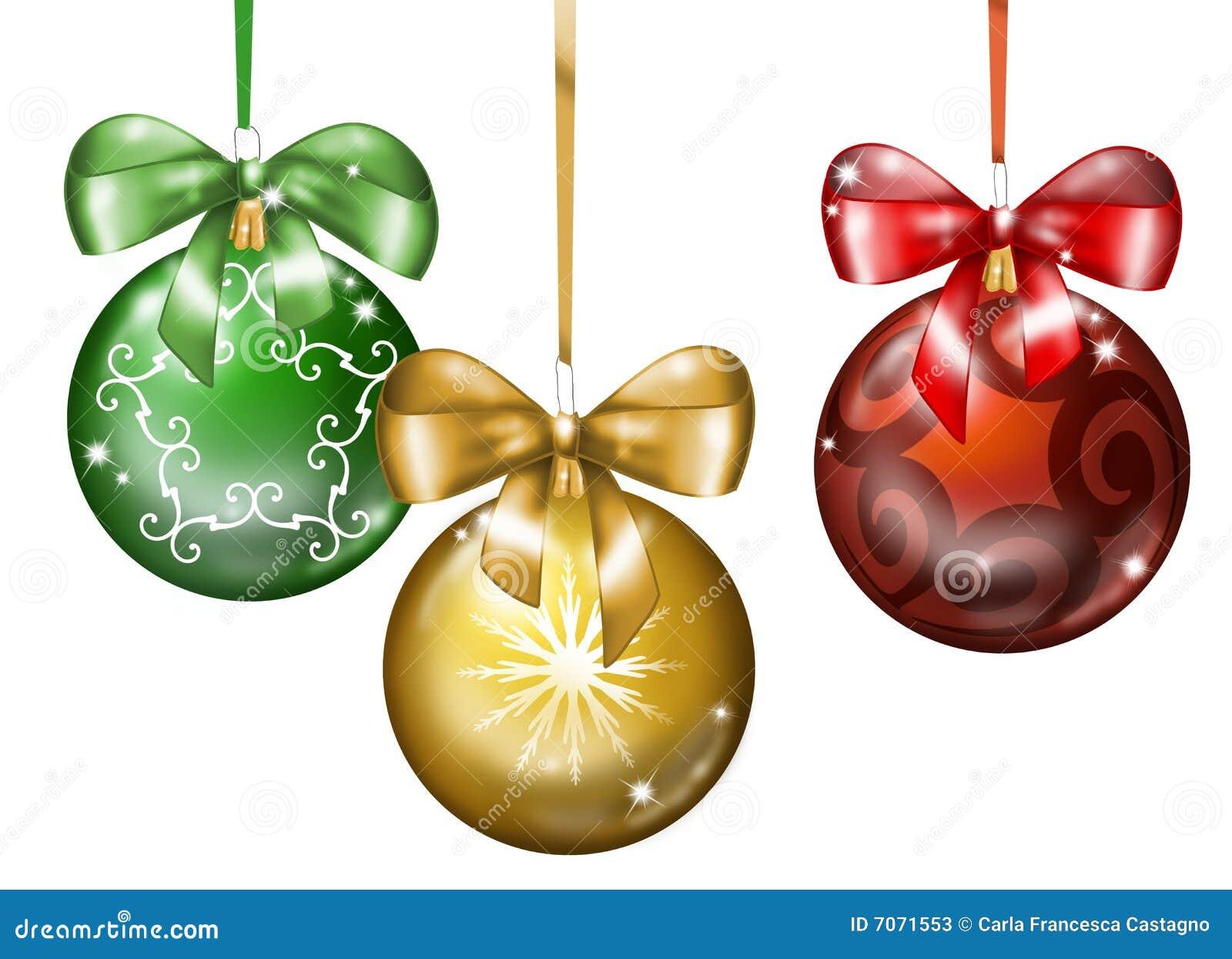 Three christmas balls stock photos image 7071553 for Ball balls christmas decoration