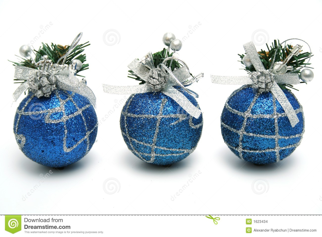 Three christmas spheres of dark blue color stock images - Is blue a christmas color ...