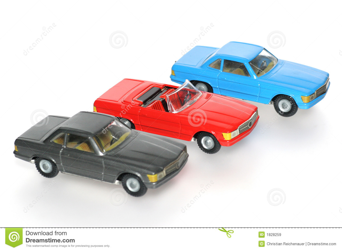 Toy Cars For Toys : Three classic mercedes toy cars royalty free stock images