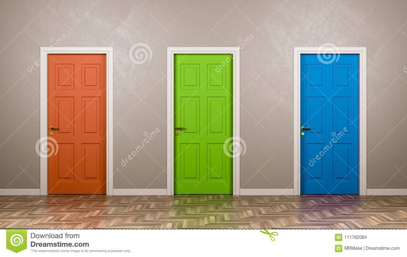 Three Closed Doors in the Room