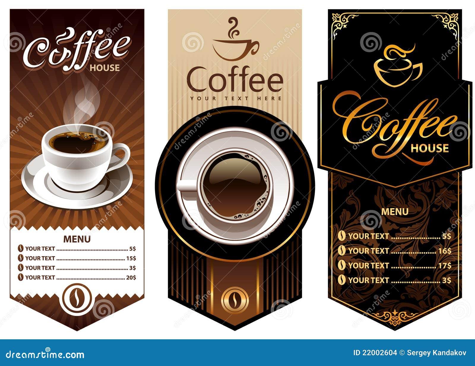 Three Coffee Design Templates Stock Images Image 22002604