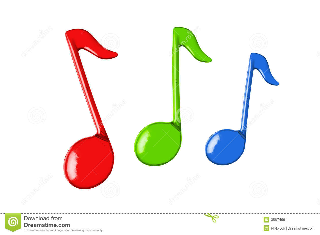 Three color music notes stock image image of note symbol 35674991 three color music notes biocorpaavc Images