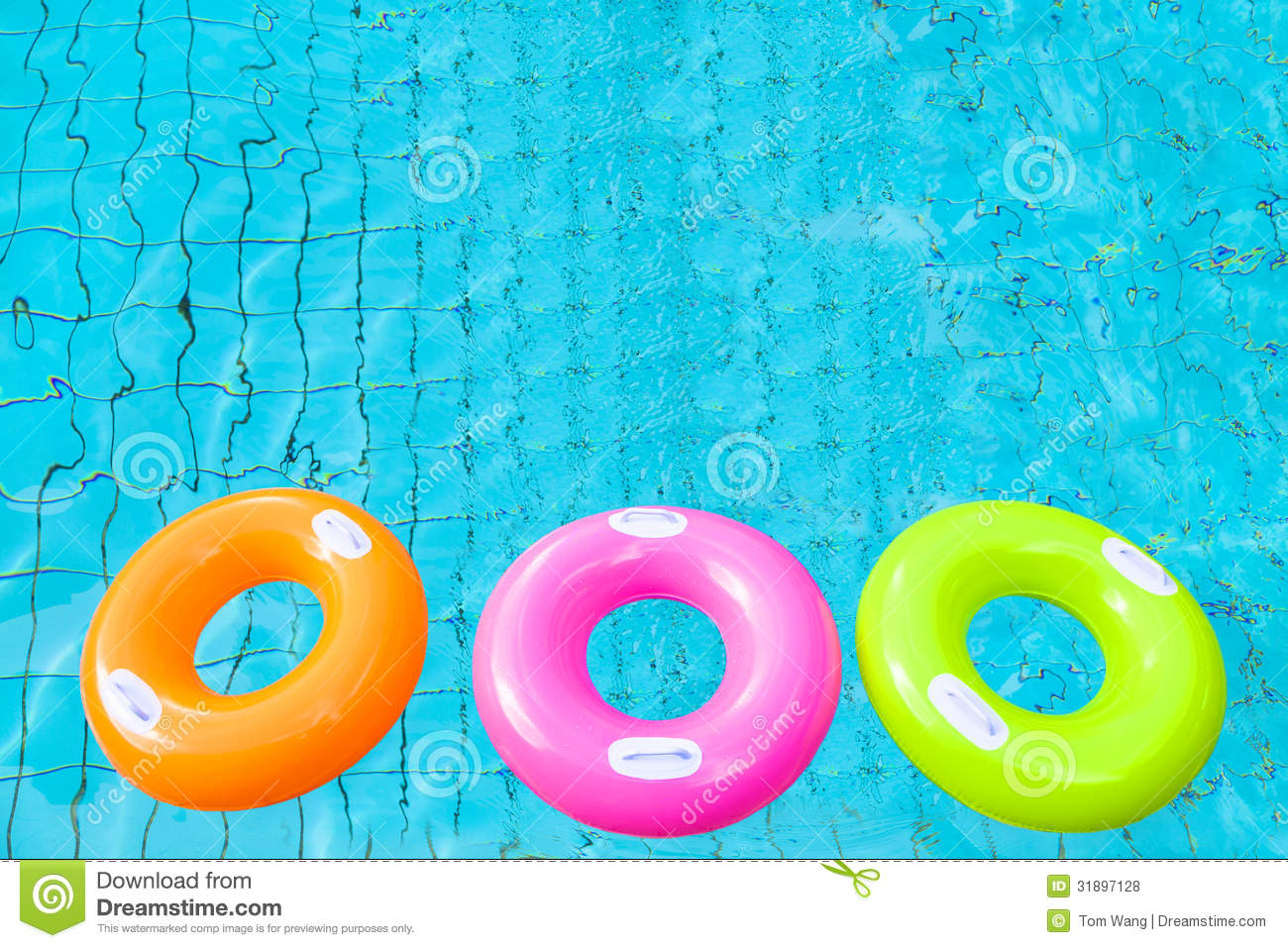pool water with float. Three Colorful Swimming Pool Rings Water With Float